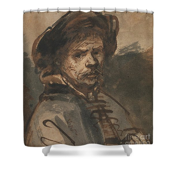 Self Portrait By Rembrandt Shower Curtain
