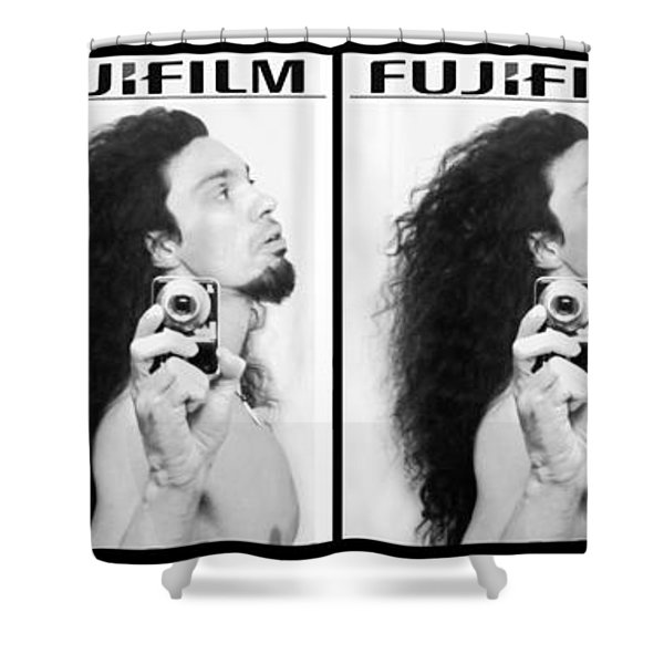 Self Portrait Progression Of Self Deception Shower Curtain