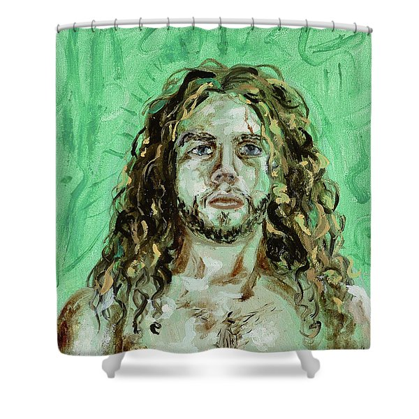Self Portrait -with Emerald Green And Mummy Brown- Shower Curtain