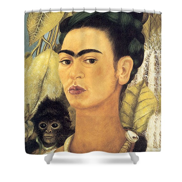 Self Portrait With Monkey  Shower Curtain