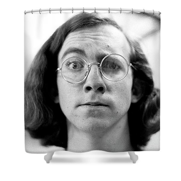 Self-portrait, With Raised Eyebrow, 1972 Shower Curtain