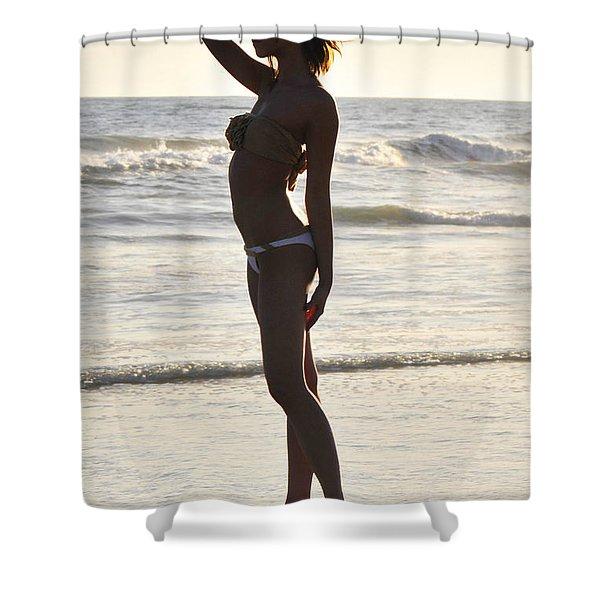 Self Reflecting Shower Curtain