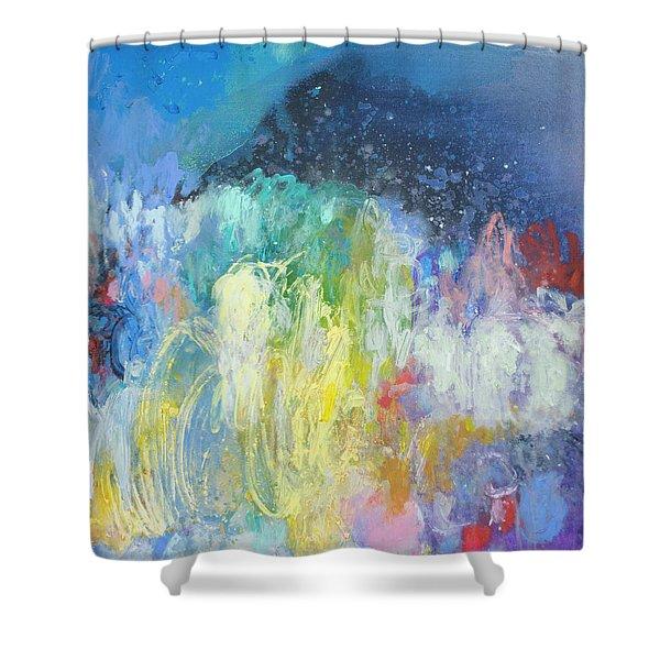 Semantic Drift Shower Curtain