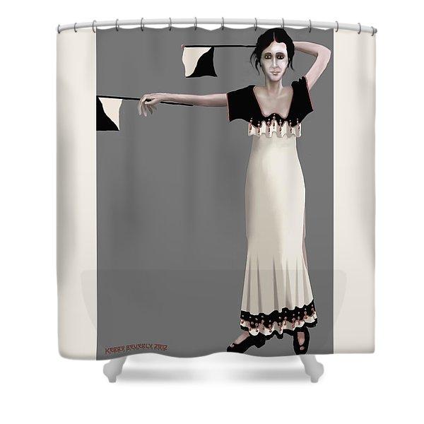 Semaphore Girl Shower Curtain
