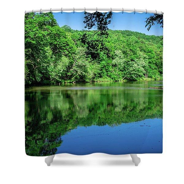 Semi Placid Stream Shower Curtain