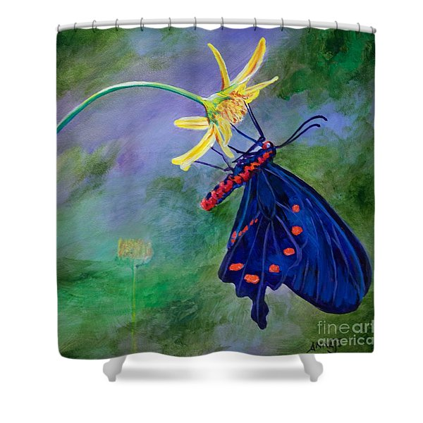 Semperi Swallowtail Butterfly Shower Curtain