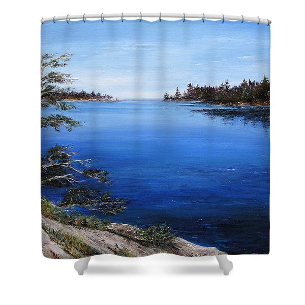 Shower Curtain featuring the painting Sentinel by Jan Byington