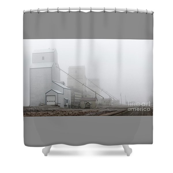 Sentinels In The Fog Shower Curtain