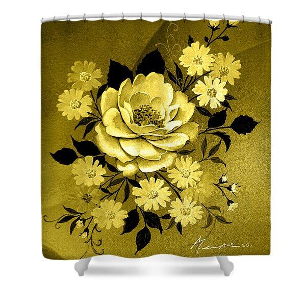 Sepia Bouquet Shower Curtain