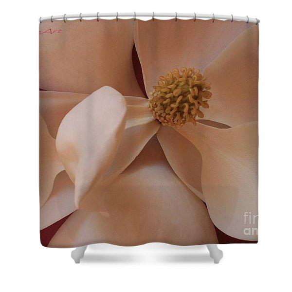 Sepia Magnolia Macro Shower Curtain