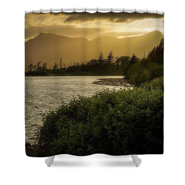 Sepia Sunset Shower Curtain