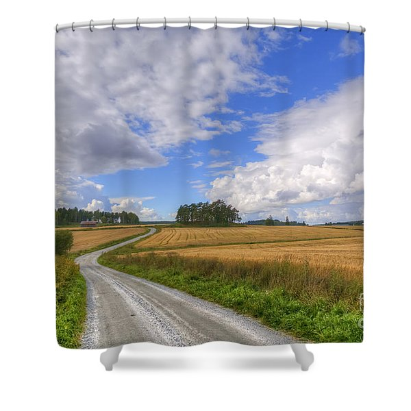 September In The Countryside Shower Curtain