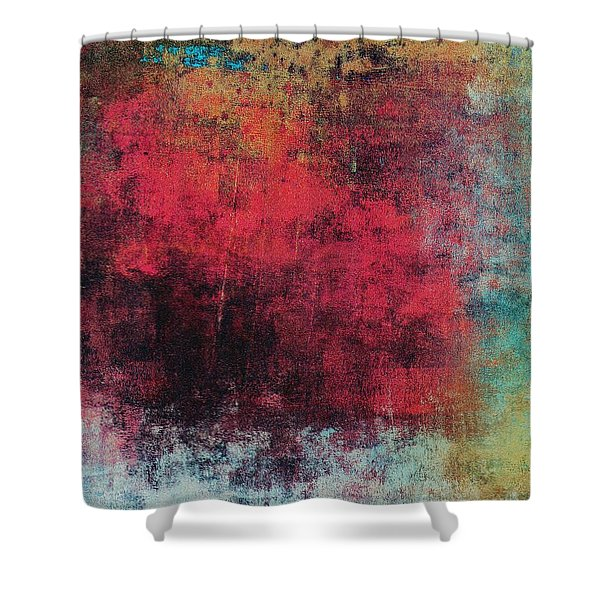 Shower Curtain featuring the mixed media Ser. 1 #02 by Writermore Arts