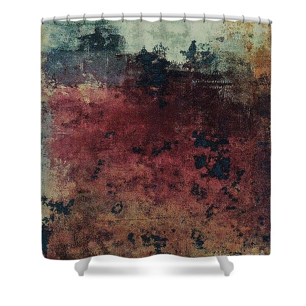 Shower Curtain featuring the mixed media Ser. 1 #03 by Writermore Arts