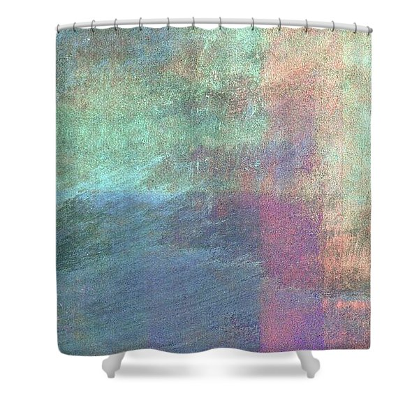 Shower Curtain featuring the mixed media Ser. 1 #04 by Writermore Arts