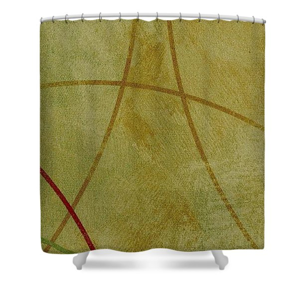 Shower Curtain featuring the mixed media Ser. 1 #06 by Writermore Arts