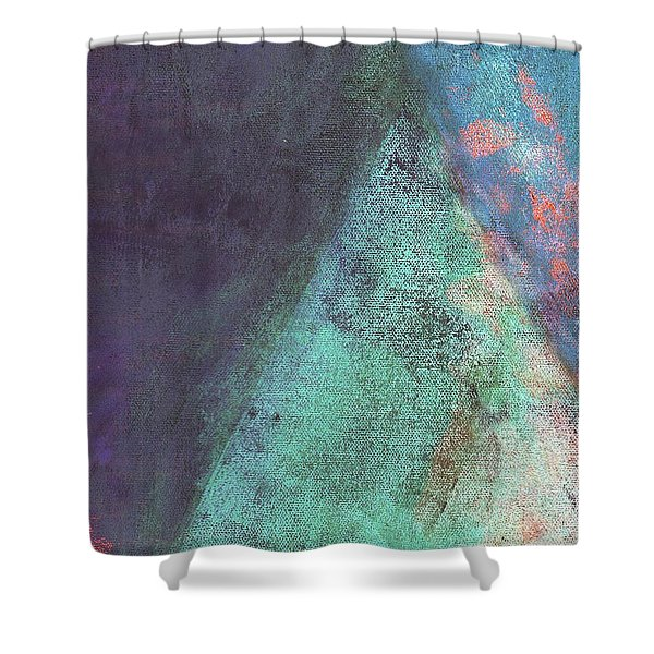 Shower Curtain featuring the mixed media Ser. 1 #07 by Writermore Arts