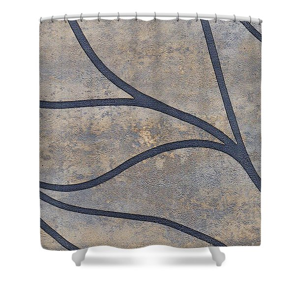 Shower Curtain featuring the mixed media Ser. 2 #01 by Writermore Arts