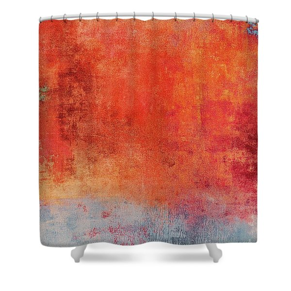 Shower Curtain featuring the mixed media Ser. One #01 by Writermore Arts