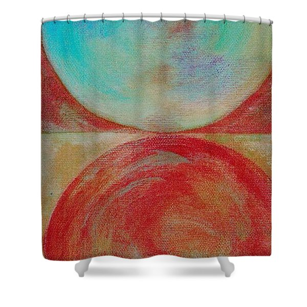 Shower Curtain featuring the mixed media Ser.2 #02 by Writermore Arts