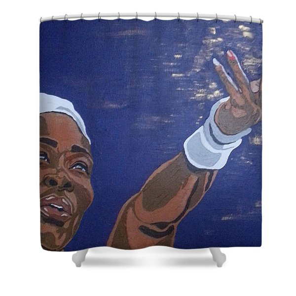 Serena Williams Shower Curtain
