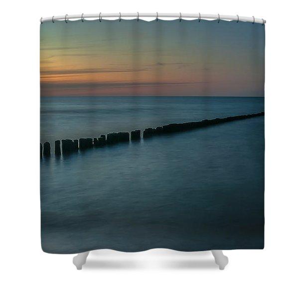 Serene Lines Shower Curtain
