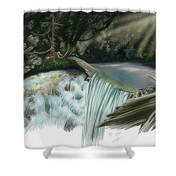 Serene Oasis Of Stagger Inn Shower Curtain