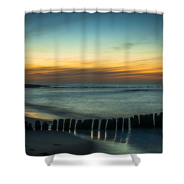 Serene Shore Shower Curtain
