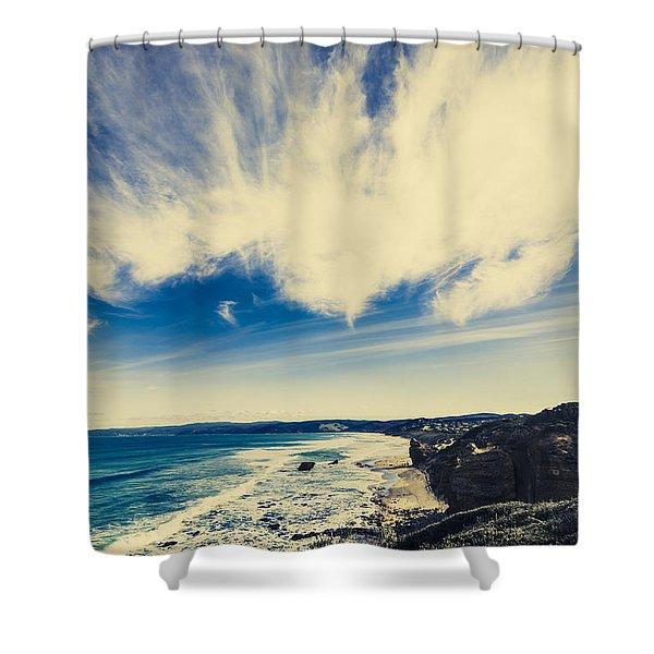 Serene Victoria Coastline Shower Curtain