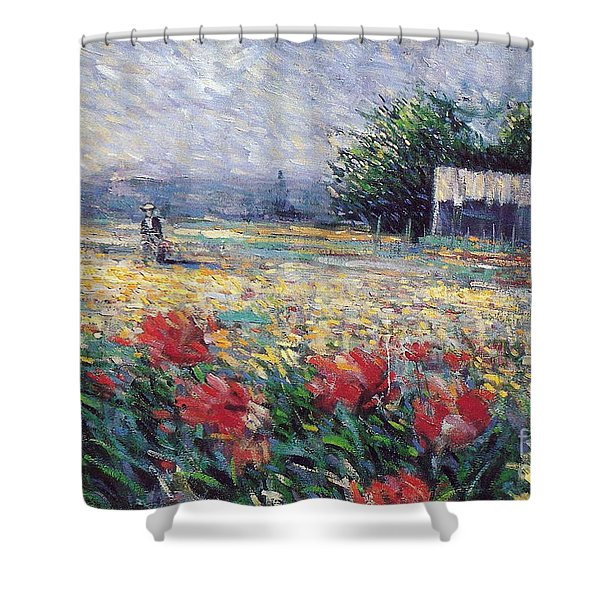 Shower Curtain featuring the painting Serenety by Rosario Piazza