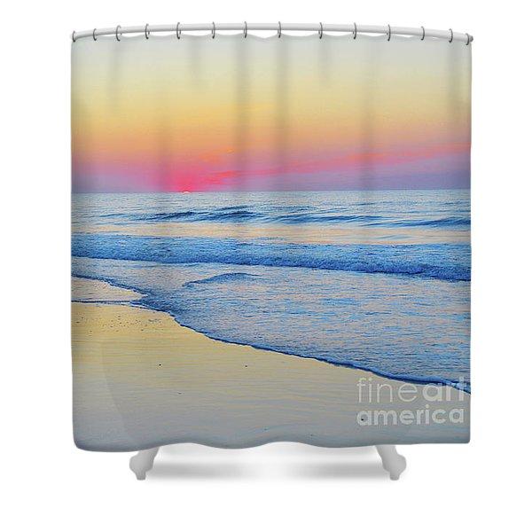 Serenity Beach Sunrise Shower Curtain