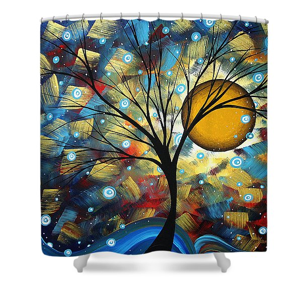 Serenity Falls By Madart Shower Curtain
