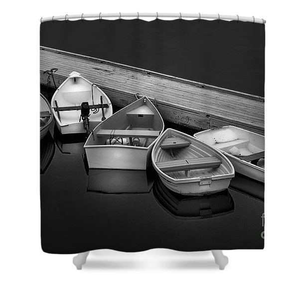 The Five Dinghy's  Shower Curtain