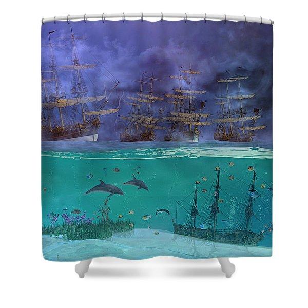 Serenity Point Shower Curtain