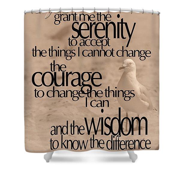 Serenity Prayer 04 Shower Curtain