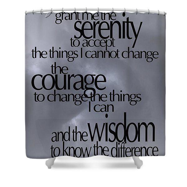 Serenity Prayer 05 Shower Curtain