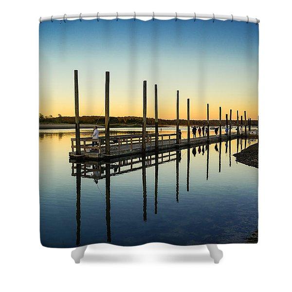 Serenity Sunset Kings Park New York Shower Curtain