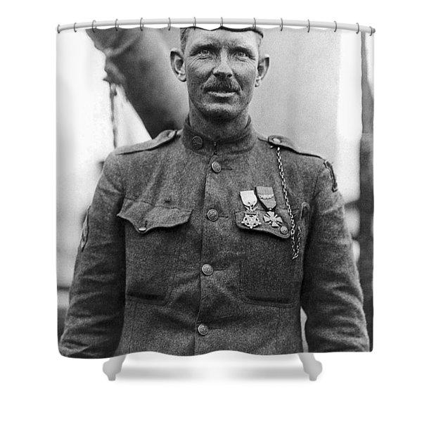 Sergeant York - World War I Portrait Shower Curtain