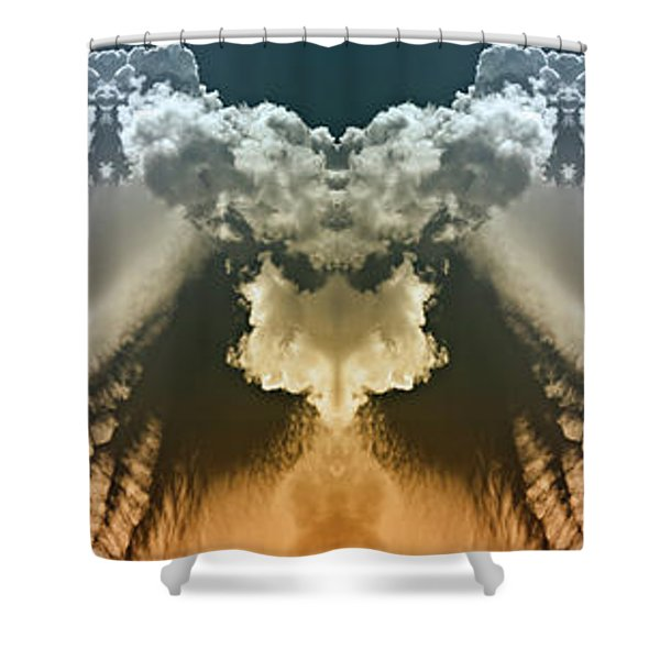 Serious Clouds Shower Curtain