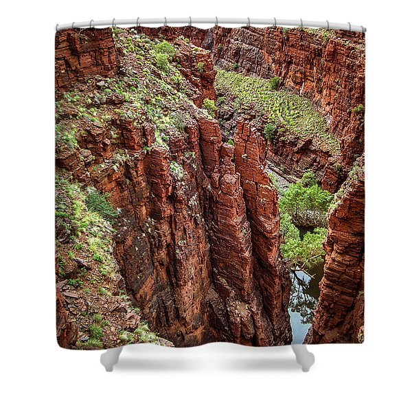 Serious Crags Shower Curtain