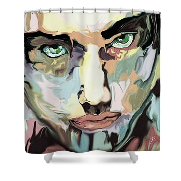 Serious Face Shower Curtain