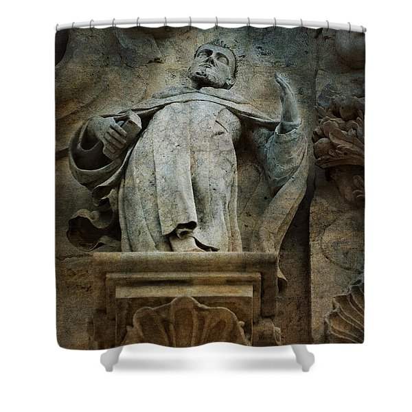 Sermon In Stone Shower Curtain