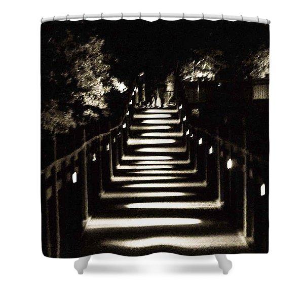 Serpentine Shadow Shower Curtain