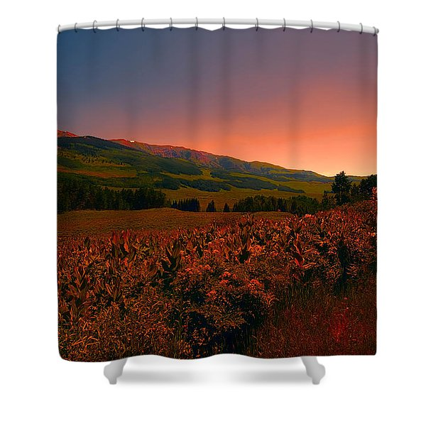 Setting Sun In Crested Butte Shower Curtain