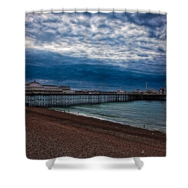 Seven Am On Brighton Seafront Shower Curtain