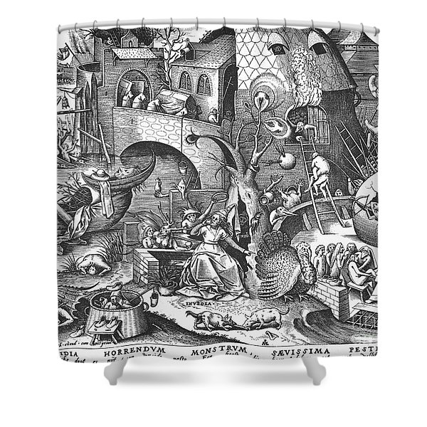 Seven Deadly Sins, 1558 Shower Curtain