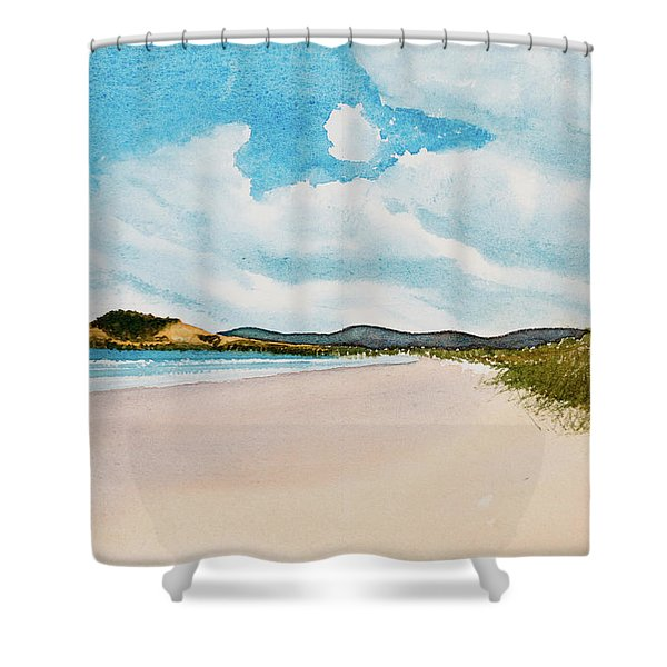 Seven Mile Beach On A Calm, Sunny Day Shower Curtain
