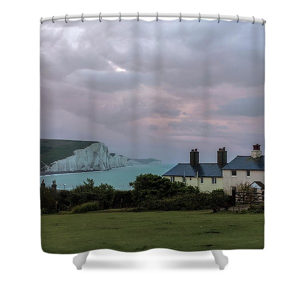 Seven Sisters Dawn  - England Shower Curtain