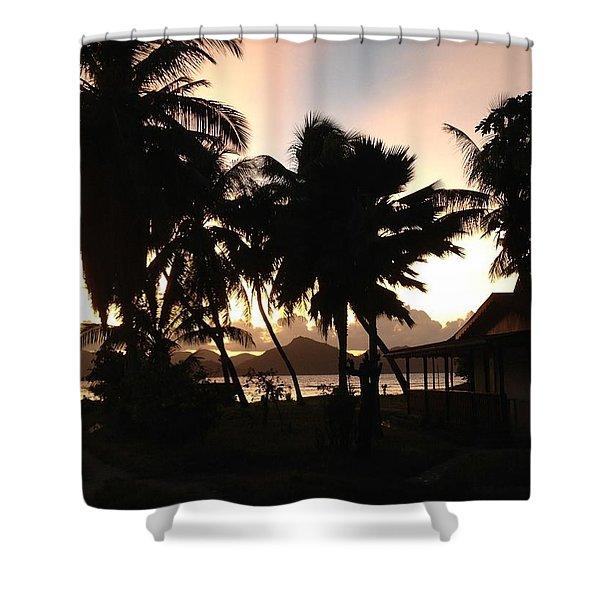 Seychelles Sunset Shower Curtain