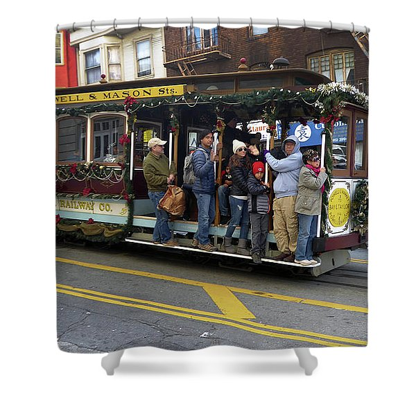 Sf Cable Car Powell And Mason Sts Shower Curtain